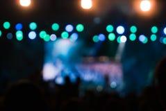 O concerto ilumina o bokeh Fotografia de Stock