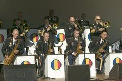 O concerto pelo treinamento de exército dos E S e a doutrina comandam a faixa, uma faixa de jazz, no parque histórico nacional co fotografia de stock royalty free