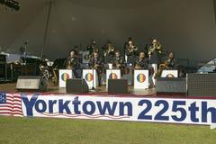 O concerto pelo treinamento de exército dos E S e a doutrina comandam a faixa, uma faixa de jazz, no parque histórico nacional co imagens de stock