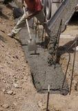 O concreto derrama Fotografia de Stock