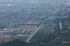 Condado de Huairou, Beijing suburbano foto de stock royalty free