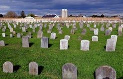 O Condado de Lancaster, PA: Cemitério de Amish fotos de stock