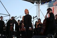 O condutor da orquestra sinfônica do mastrangelo de Fabio do museu de eremitério do estado (St Petersburg) (Italia) Fotografia de Stock Royalty Free