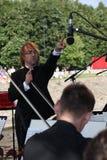 O condutor da orquestra sinfônica do mastrangelo de Fabio do museu de eremitério do estado (St Petersburg) (Italia) Foto de Stock Royalty Free