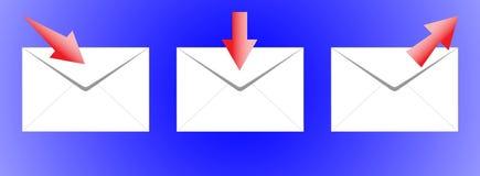 O ícone-correio. Imagem de Stock