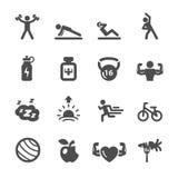 O ícone da aptidão ajustou 2, vetor eps10 Imagem de Stock Royalty Free