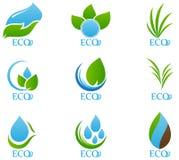 O ícone da ecologia ajustou 04 Fotografia de Stock Royalty Free