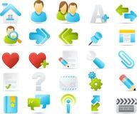 O ícone de Nouve ajustou-se: Internet e Blogging Fotografia de Stock Royalty Free