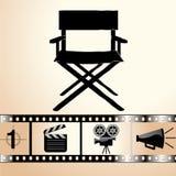 O ícone do cinema Imagens de Stock Royalty Free