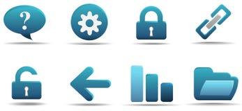 O ícone do Web ajustou 2 | Série do Aqua Imagem de Stock Royalty Free