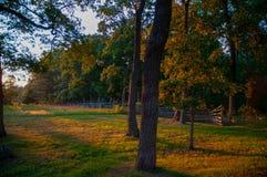 O confederado acampa seminário Ridge Sunset fotos de stock royalty free