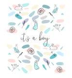 O confete escova a festa do bebê Fotos de Stock
