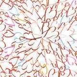 O confete irradia o fundo sem emenda dos corações Foto de Stock Royalty Free