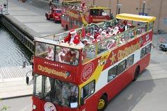 O congresso de Papai Noel do mundo em Copenhaga Fotos de Stock Royalty Free