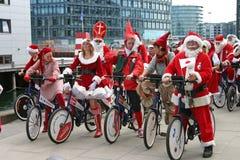 O congresso de Papai Noel do mundo em Copenhaga Fotografia de Stock