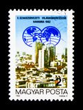 10o congresso do sindicato do mundo, serie, cerca de 1982 Fotos de Stock Royalty Free