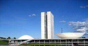 O congresso nacional de Brasil em Brasília Foto de Stock