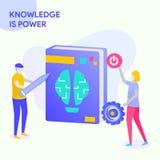 O conhecimento é potência ilustração stock