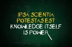 O conhecimento é potência Imagens de Stock