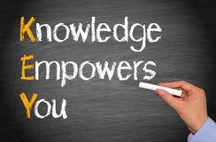 O conhecimento autoriza-o Foto de Stock