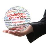 O conhecimento é poder Imagens de Stock