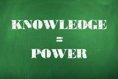 O conhecimento é potência Fotos de Stock Royalty Free