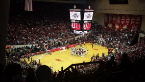 O conjunto Hall Basketball Stadium de Indiana University foto de stock