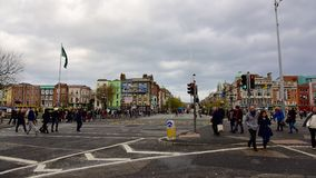 O'Connell Bridge - Dublin city center Royalty Free Stock Images