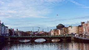 O'Connell Bridge - Dublin city center Stock Photos