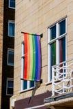 O'Connell monument Dublin Pride Arkivbild