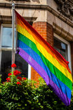 O'Connell-Monument Dublin Pride Stockfotografie
