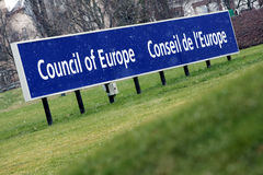 O Conselho da Europa fotos de stock royalty free