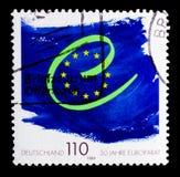 O Conselho da Europa, 50th serie do aniversário, cerca de 1999 Foto de Stock