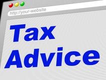 O conselho do imposto significa Levy Info And Taxation ilustração stock