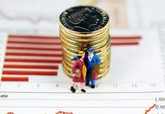 O conselho do investimento, anda afastado Foto de Stock Royalty Free