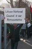 O Conselho Nacional líbio é nosso representante Foto de Stock