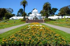 O conservatório das flores, Golden Gate Park, San Francisco fotografia de stock