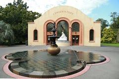 O conservatório nos jardins de Fitzroy, Melbourne Imagem de Stock