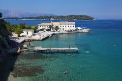 O console grego de Corfu Fotos de Stock Royalty Free