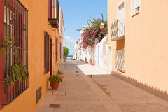 O console Tabarca para a costa espanhola. fotos de stock royalty free