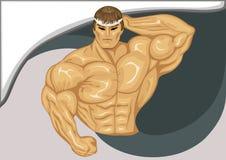 O construtor de corpo. ilustração stock