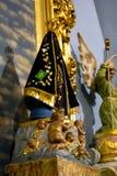 o consumidor divino de Brasil fez do emplastro na igreja Católica foto de stock