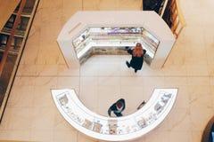 o contador em uma alameda, uma vista superior Fotografia de Stock Royalty Free