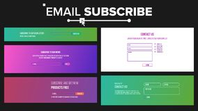 O contato do email, subscreve o vetor do formulário Caixa e botão de texto Submeta o formulário Ilustração ilustração do vetor