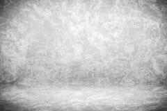 O contexto preto e branco do estúdio do Grunge com espaço para o fundo da apresentação do vintage, 3D rende Imagens de Stock
