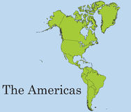 O continente americano Imagem de Stock Royalty Free