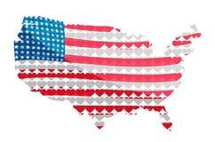 O continente americano, bandeira Ilustração do vetor Imagens de Stock