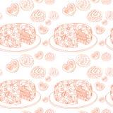 O contorno alaranjado de coze. teste padrão dos confeitos Fotografia de Stock Royalty Free