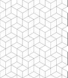 O contraste rítmico textured o teste padrão infinito com os cubos, contínuos Imagens de Stock
