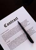 O contrato Imagem de Stock